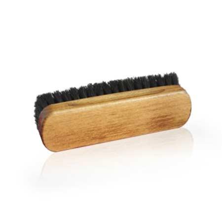 Hewitts Medium Horse Hair Brush Black Shoe