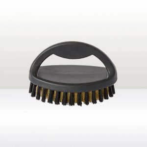 Small Plastic Handled Suede Brush